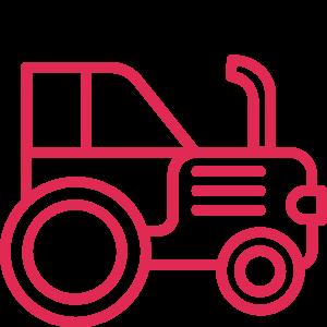 Icône personnalisée d'un tracteur